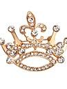 Homens Feminino Broches Moda Cristal Joias Para Casamento Festa Ocasiao Especial Aniversario Diario Casual
