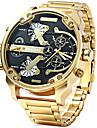 Мужской Спортивные часы Армейские часы Модные часы Наручные часы Календарь С двумя часовыми поясами Панк Кварцевый Нержавеющая сталь