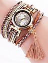 Women\'s Fashion Watch Wrist watch Bracelet Watch Colorful Imitation Diamond Rhinestone Quartz PU BandVintage Bohemian Charm Bangle Cool Strap Watch