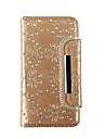 용 지갑 / 카드 홀더 / 크리스탈 케이스 풀 바디 케이스 꽃장식 소프트 천연 가죽 용 Samsung S7 edge / S7 / S6 edge / S6