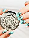 полный цветочный дизайн ногтей печать ногти штамповка изображения шаблона плиты искусство шаблон украшения ногтей
