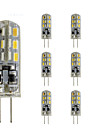 Dimmable Silica Gel BinPin G4 Gu4 Led Bulb Mini Spotlight Bulb 12V DC 24 SMD 3014 Red/Green/Blue/White/Warm White(10 Pieces)