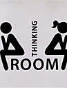 Words & Quotes Toilet/Washroom Wall Decals Still Life / Shapes / People Wall Stickers Plane Wall Stickers,VINYL 7*10cm