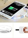 ци беспроводной зарядное устройство зарядки подушка для Samsung Galaxy S6 / край / связующей 4 g3 g4 + приемник комплект для Iphone 5 / 5s