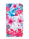 Для Кошелек / Бумажник для карт / со стендом / Флип Кейс для Чехол Кейс для Цветы Твердый Искусственная кожа для AppleiPhone 6s Plus/6