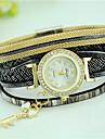 Women\'s Bracelet Watch Imitation Diamond Rhinestone Quartz Leather Band Casual Black White Blue Red Brown Pink Strap Watch