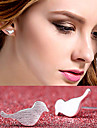 Stud Earrings Cute Style Costume Jewelry Silver Plated Alloy Animal Shape Bird Jewelry For Wedding Party Daily Casual