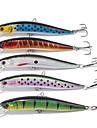 5 pcs Minnow Fishing Lures Minnow Random Colors g/Ounce mm inch,Plastic General Fishing
