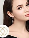 Femme Boucles d\'oreille gitane Bijoux Basique Bijoux Fantaisie Simple Style bijoux de fantaisie Alliage Forme de Cercle Forme Carree