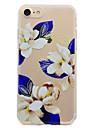 Pour Transparente Motif Coque Coque Arriere Coque Fleur Flexible PUT pour AppleiPhone 7 Plus iPhone 7 iPhone 6s Plus iPhone 6 Plus iPhone