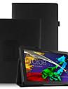 Pu case cover pour lenovo tab3 tab 3 10 business x70f tb3-x70f x103f avec ecran protecteur