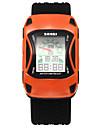 SKMEI Мужской Спортивные часы электронные часы LED Защита от влаги Кварцевый Цифровой силиконовый Группа Цветы Cool Черный