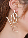 Women\'s Dangle Earrings Jewelry Fashion Inspirational Personalized Euramerican Oversized Alloy Alphabet Shape Jewelry ForParty Special