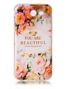 For Case Cover Transparent Embossed Pattern Back Cover Case Word / Phrase Flower Soft TPU for Samsung J5 (2016) J3 J3 (2016) J3 Prime