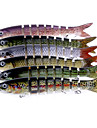 "6 pcs Hard Bait Jerkbaits Minnow Assorted Colors g/Ounce mm/7-3/4"" inch,Soft PlasticSea Fishing Spinning Trolling & Boat Fishing Bass"