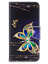 For iPhone 7Plus 7 Phone Case PU Leather Material Big Butterfly Pattern Painted 6s Plus 6Plus 6S 6 SE 5s 5