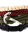 Vintage Anchor Woven Leather Bracelets