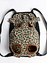 Gato / Cachorro Tranportadoras e Malas / frente Backpack Animais de Estimacao Coberturas Portatil / Leopardo Multi-Cor Tecido