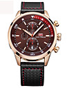 Men\'s Sports Quartz Watches Mens Watches Top Brand Luxury Leather Chronograph Clock Chronograph Wristwatches Relogio Masculino