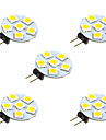 1W Luminarias de LED  Duplo-Pin 6 SMD 5050 68 lm Branco Quente Branco DC 12 V 5 pcs