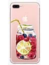 Pour apple iphone 7 7 plus couverture de casquette bouteille de fruits modele peint haute penetration tpu materiel etui souple cas de