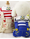 Dog Clothes/Jumpsuit Dog Clothes Casual/Daily Sailor Blue Red