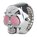 Недорогие Женские часы-Жен. Дамы Часы-кольцо Японский Кварцевый Серебристый металл Повседневные часы Череп
