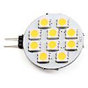 hesapli LED Ampuller-2700 lm G4 LED Spot Işıkları 10 LED Boncuklar SMD 5050 Sıcak Beyaz 12 V