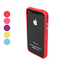 cheap iPhone Cases-Case For iPhone 4/4S / Apple Bumper Soft TPU for iPhone 4s / 4
