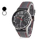 저렴한 남성용 시계-남성용 손목 시계 일본어 석영 실리콘 블랙 캐쥬얼 시계 아날로그 참 클래식 - 화이트 블랙 1 년 배터리 수명 / SSUO SR626SW