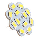 hesapli LED Bi-pin Işıklar-1.5 W 6000 lm G4 Tavan Işıkları 12 LED Boncuklar SMD 5630 Doğal Beyaz 12 V / #