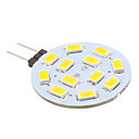 abordables LED à Double Broches-2 W 240 lm G4 LED à Double Broches 12 Perles LED SMD 5630 Blanc Chaud 12 V / # / CE