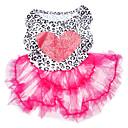 hesapli Şarj Aletleri-Köpek Elbiseler Köpek Giyimi Kalp Pembe Terylene Kostüm Evcil hayvanlar için Yaz Kadın's Moda