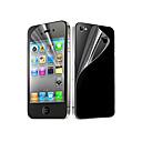 hesapli iPhone 4s / 4 İçin Ekran Koruyucular-Ekran Koruyucu Apple için iPhone 6s Plus iPhone 6 Plus iPhone 4s/4 PET 5 parça Ön ve Arka Koruyucu Ultra İnce