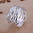 cheap Rings-Women's Plaited Band Ring - Silver Plated, Alloy Unique Design, Open Adjustable Silver For Wedding Party Gift