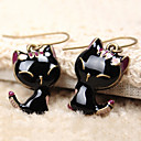 cheap Barware & Openers-Women's Drop Earrings - Resin Cat Animal Cute Jewelry Black For Daily