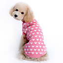 cheap Women's Watches-Sweater Dog Clothes Heart Pink Woolen Costume For Pets Keep Warm
