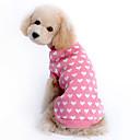 preiswerte Bekleidung & Accessoires für Hunde-Pullover Hundekleidung Herz Rosa Wollen Kostüm Für Haustiere warm halten