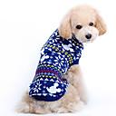 tanie Święta Bożego Narodzenia-Pies Swetry Ubrania dla psów Płatek śniegu Niebieski Wełniany Kostium Dla zwierząt domowych Męskie Damskie Urocza Święta Bożego Narodzenia