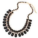 Buy Women's Chain Necklaces Square Geometric Synthetic Gemstones Resin Imitation Diamond Alloy Tassel European Jewelry Wedding Party