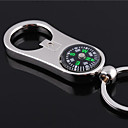 cheap Key Chains-Personalized Engraved Gift Curve Compass Style Shaped Keychain