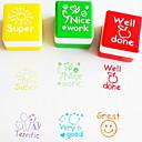 billiga Kontorsmaterial-6st uppsättning lärare uppmuntra stämpel tecknad gullig engelsk super trevligt arbetsbläck