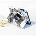 ieftine Carcase iPad-Maska Pentru Apple iPad Mini 3/2/1 Rotație 360 ° / Cu Stand / Auto Sleep / Wake Carcasă Telefon Floare PU piele