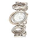 hesapli Kadın Saatleri-Kadın's Bilek Saati Bant Analog İhtişam Gümüş