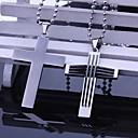 Недорогие Именные аксессуары-Персональный подарок Ожерелья Нержавеющая сталь Муж. Деловые Классика Праздник Подарок