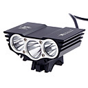 cheap Bike Lights-Front Bike Light Headlight LED Cree® XM-L2 T6 3 Emitters 3000 lm 3 Mode Waterproof Rechargeable Compact Size Camping / Hiking / Caving Cycling / Bike Multifunction / Multiple Modes