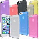 billige iPhone-etuier-Etui Til iPhone 5 Apple Etui iPhone 5 Ultratynn Matt Gjennomsiktig Bakdeksel Helfarge Hard PC til iPhone SE/5s iPhone 5