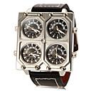 baratos Relógios Masculinos-Homens Quartzo Relógio Militar Relógio Casual PU Banda Amuleto Preta