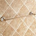 رخيصةأون أدوات الحمام-قضيب المنشفة جودة عالية أنتيك نحاس خزفي 1 قطعة - حمام الفندق 1-منشفة بار