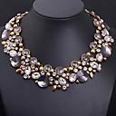 preiswerte Schmuck-Sets-Damen Kristall Statement Ketten - Blume Erklärung, Luxus, Europäisch Purpur Modische Halsketten Schmuck Für